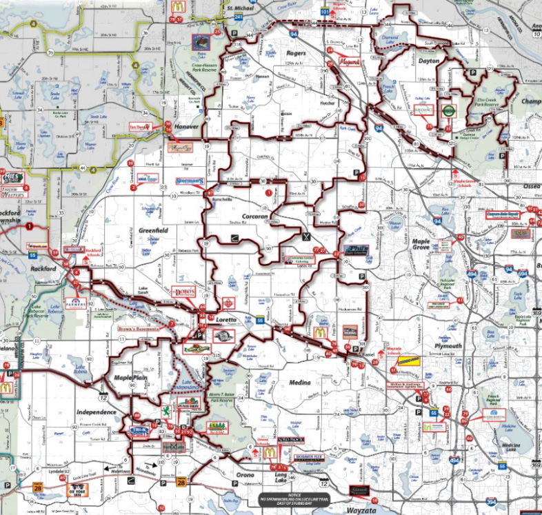Northwest Trails ociation - Trail Map on map of downtown orono, map of orono public library, map of minnesota cities and water,